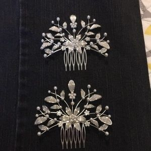 Accessories - Set of 2 hair combs perfect for a bride!